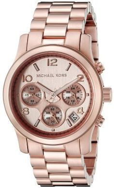 bc7ec6b08db Michael Kors Women s Runway Rose Gold-Tone Stainless Steel Watch - -  WOMEN`S WATCHES - The Michael Kors Rose Gold Runway Watch adds a splash of  red to an ...