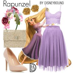 Rapunzel inspired prom how to dress like your fave disney character for prom rapunzel inspired prom dress disneybound Disney Bound Outfits Casual, Cute Disney Outfits, Disney Themed Outfits, Disneyland Outfits, Disney Dresses, Prom Dresses, Princess Inspired Outfits, Disney Princess Outfits, Disney Inspired Fashion