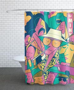 Fear and Loathing - Ale Giorgini - Duschvorhang