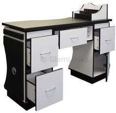 ASCOT Nail Technicians Table Desk Beauty Station for Salon Manicure GLAM LOOKS