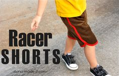 Retro Racer Shorts TUTORIAL | MADE:  free pattern and tutorial