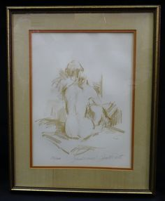 "50's FRAMED SIGNED JAN DE RUTH (1922-1991) LITHO ""STUDIO CORNER"" No. 50/200 #Impressionism"