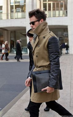 1. I want his trench. 2. I saw him on this particular day!