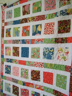 This is a baby quilt for Emily. It's a little bigger than the standard. I have lots of photos of Baby K using this quilt. (2010)