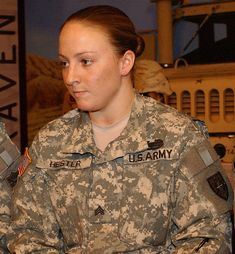 Leigh Ann Hester is the first female U.S. Army soldier to receive the award for exceptional valor since World War II and the first ever to be cited for valor in close quarters combat.
