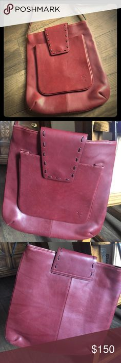 FRYE Crossbody The Frye Company uses the Finest Quality of Leathers. This is a beautiful Crossbody that is NWOT. It has never been carried. Outer pocket and main opening of bag have a flap snap closure. Interior zip pocket❣ Frye Bags Crossbody Bags