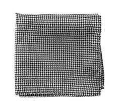 For the bridesman: Amazon.com: 100% Silk Woven Black and White Houndstooth Pocket Square: Clothing