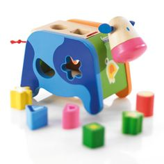 shape sorting cow for maxwell.
