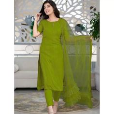 Salwar Suits : Neon green thread and sequence work salwar ... Salwar Suits, Indian Salwar Suit, Dress Indian Style, Indian Outfits, Carnival Store, New Punjabi Suit, Patiala, Salwar Kameez, Cold Shoulder Dress