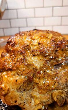 Pork Roast Recipes, Pork Tenderloin Recipes, Meat Recipes, Crockpot Recipes, Cooking Recipes, Pork Loin, Recipes Dinner, Pork Ham, Pork