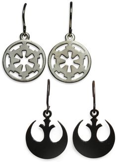 Think #Geek : Star Wars Logo Earrings    Anyone looking for these? :D