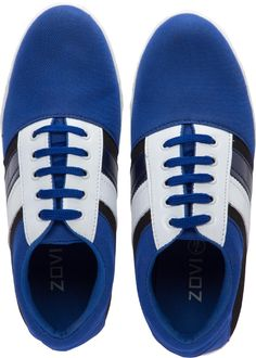 Zovi Men's Blue Lace Up Sneakers With Black & White Accents @ Rs 399
