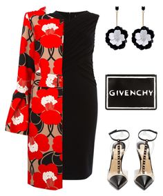 2018 # 83 by romaosorno on Polyvore featuring Karen Millen, P.A.R.O.S.H., Christian Louboutin, Givenchy and Oscar de la Renta