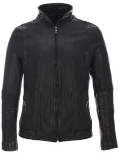 FLATSEVEN Mens Slim Fit Genuine Leather Standing Collar Wrinkled Jacket FLATSEVEN is a mens designer fashion brand which specializes in mens clothing and Leather Fashion, Leather Men, Leather Pants, Black Leather, Mens Fashion, Real Leather, Fashion Outfits, Slim Fit Jackets, Jackets For Women