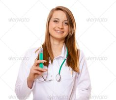 Doctor or nurse holds a syringe, healthcare concept ...  Vaccination, assistant, care, clinic, doctor, female, girl, health, healthcare, hospital, illness, injection, isolated, laboratory, medical, medicine, needle, nurse, people, pharmacology, practitioner, research, science, stethoscope, student, surgery, syringe, treatment, uniform, white, woman, young
