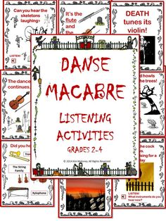 """Danse Macabre - teaching resources value BUNDLE"