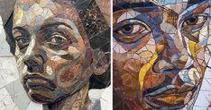 Expressive Portraits Made as Scrap-Metal Mosaics Question Societal Notions of Value | Colossal Activist Art, Colossal Art, Expressive Art, Mosaics, New Art, Sculpture Art, 3 D, Contemporary Art, Street Art