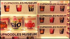 Unique cupnoodles of the Cupnoodles Museum Shop, Yokohama