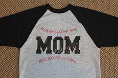 Baseball Softball Mom Tshirt Front and Back Personalized