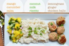 iron stef: coconut risotto with lemongrass ginger chicken balls