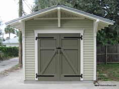 Bungalow storage shed designed to complement a historic home