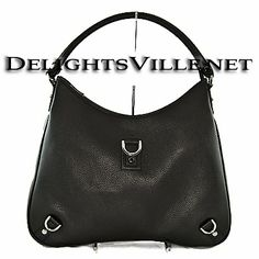 Gucci 268636 CAOUR Abbey D Ring Leather Hobo Handbag Black  100% AUTHENTIC and NEW WITH TAGS.