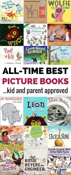 "This isn't a list of the best picture books according to the ""experts."" Every children's book in this list is kid and parent approved because that's who ends up reading them 72 billion times a day! These picture books for older kids and babies and ev Best Children Books, My Children, Childrens Books, Toddler Books, Picture Books For Children, Kids Reading, Teaching Reading, Learning, Reading Lists"