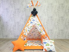 Teepee Play Tent, Teepee Kids, Kids Wigwam, Childrens Teepee, Play Houses, Picture Show, Hanging Out, Bed Sheets, Baby Animals
