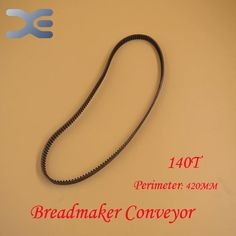 2Per Lot Kitchen Appliance Parts Bread Maker Parts 140T Perimeter 420mm Breadmaker Conveyor Belts Free Shipping