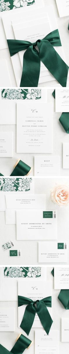 The Gabriella wedding invitation collection is perfect for any contemporary wedding.