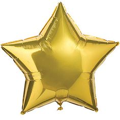 Our brilliant Gold Star Shaped Mylar Balloons will show your star power. Choose the gold star mylar balloons in one of our two sizes.