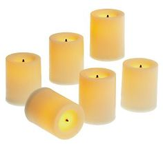 "Candle Impressions S/6 1.75"" Flameless Votive Candles w/Timer - QVC.com"