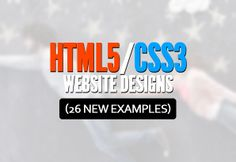 HTML5 Website Designs (26 New Examples)