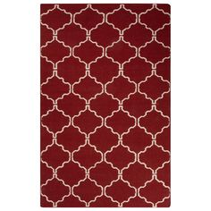 Maroc Red Area Rug