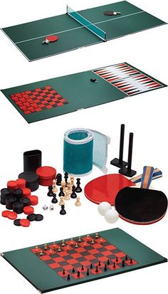 Sets 158955 Viper Portable Tri-Fold Table Tennis Ping Pong Top Bag Paddles Net  sc 1 st  Pinterest & NPW Desktop Ping Pong/Table Tennis Set Red/Blue | Ping pong table ...