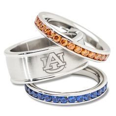 Auburn University Crystal Stacked Ring Set. I would use sapphires instead of those FL blue stones!