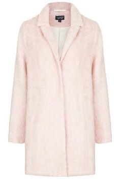 Fluffy Swing Boyfriend Coat by Topshop