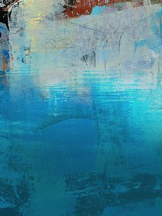 Abstract Ocean Painting  - Diane Desrochers
