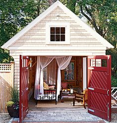 "This ""garden hut"" looks really cozy and inviting,"