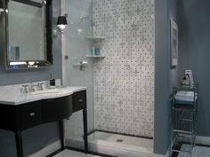 images of bathrooms using subway tile | The great thing about mosaic tiling though, is its versatility.
