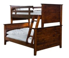 Amish Shaker Bunk Bed Save space with these elegant Shaker Bunk Beds. Available in 5 configurations from Twin over Twin up to Full over Queen. Handcrafted wood furniture that promises durability. Built in American in choice of wood and stain. #bunkbeds #bedroom