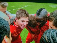 At Anfield -v- Man City April The result brings Gerrard to tears. 77 points at the top of the league. Liverpool Fc, Bring It On, Soccer, City, Sports, Top, Football, Sport, Soccer Ball