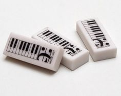 Piano Keyboard erasers. #music #piano http://www.pinterest.com/TheHitman14/music-paraphernalia/