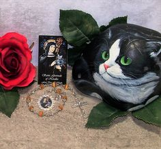 Unbreakable Catholic Chaplet of St. Gertrude of Nivelles - Patron Saint of Cats, Travelers, Gardeners, Hospitals and Against Rats by foodforthesoul on Etsy
