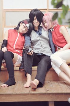 Cosplay Center • sasusaku • sasusaku family • cosplay • Sasuke Uchiha • Sakura Uchiha • sarada uchiha • sleeping — all-animes-loy: Cosplay: えし Photo: コレミツさん