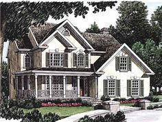 Eplans Country House Plan - Small-Town Look - 1811 Square Feet and 3 Bedrooms from Eplans - House Plan Code HWEPL08169