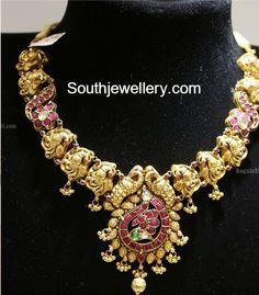 peacock naskhi necklace