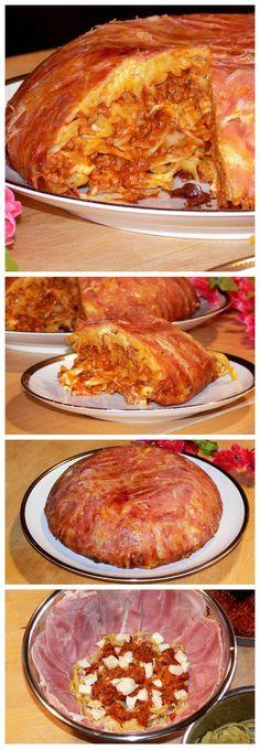 Sformato di tagliatelle al prosciutto, un primo piatto gustosissimo e bello da presentare