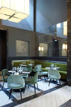 Monsieur Bleu Restaurant at The Palais de Tokyo in Paris, France.