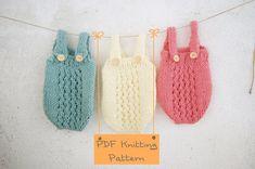 121 PDF Knitting Pattern baby Romper / Newborn Knitting